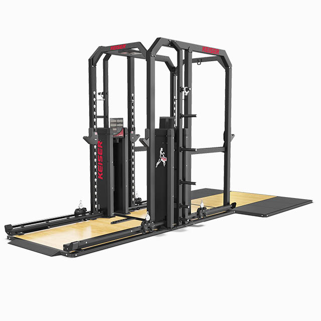 Keiser-Rack-And-A-Half-With-Air-and-optional-platform-grey