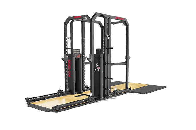 Keiser-Rack-And-A-Half-With-Air-and-optional-platform